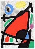 JOAN MIRO COLOR LITHOGRAPH FROM DERRIERE LE MIROIR
