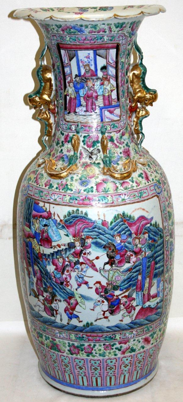 120004: CHINESE ROSE MEDALLION PALACE URN, C.1850