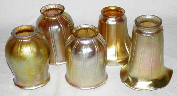 120023: ART GLASS SHADE GROUPING C.1910-20