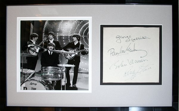 "120241: BEATLES & ""THE WHO"" AUTOGRAPHS"