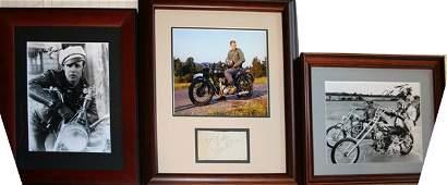 120243: SIGNED PHOTOS OF MARLIN BRANDO, STEVE MCQUEEN