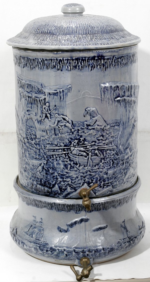 121011: WHITE CO. AMERICAN POTTERY WATER CONTAINER