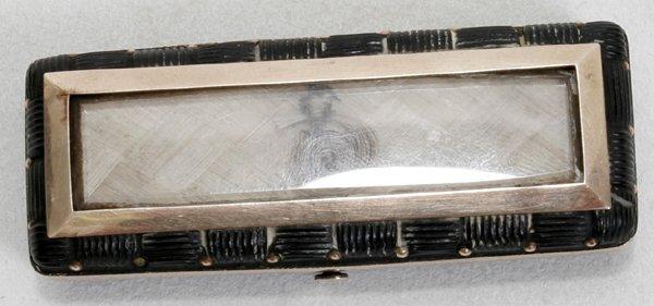 121022: VICTORIAN WOVEN HAIR & GOLD BOX, MID 19TH C.