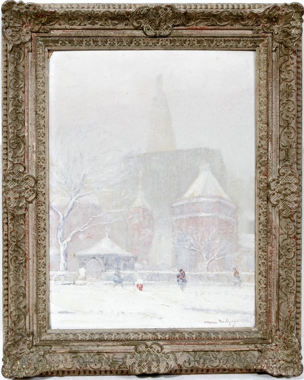 122011: J. BERTHELSEN OIL ON BOARD, LITTLE CHURCH