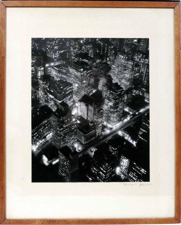 122013: BERENICE ABBOTT PHOTOGRAPH, NEW YORK AT NIGHT