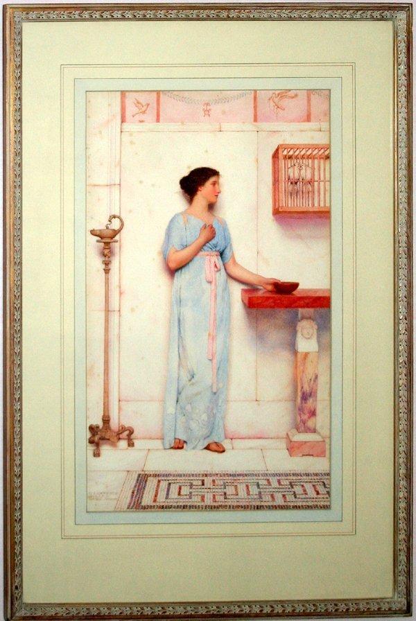 122024: GEORGE L. BULLEID WATERCOLOR, GRECIAN LADY