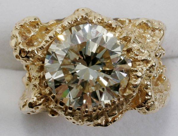 122047: 14K GOLD & 7.7CT DIAMOND RING, W/ GIA CERT.