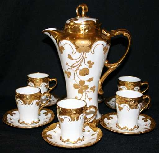 122312 j r limoges porcelain chocolate set 13 pcs. Black Bedroom Furniture Sets. Home Design Ideas