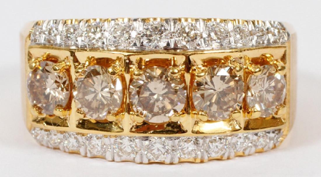 1.60CT BROWN DIAMOND & 0.66CT DIAMOND RING