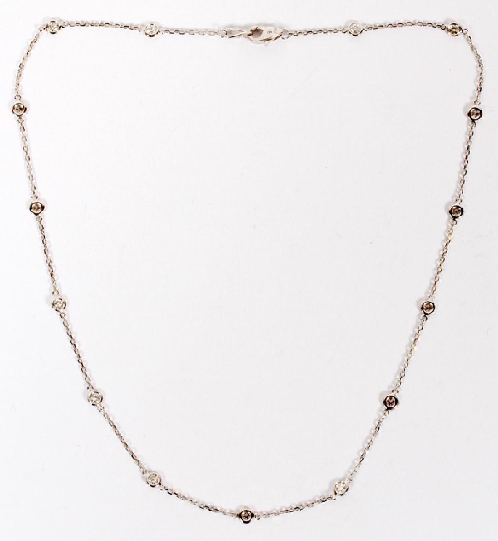 0.95CT DIAMOND YARD NECKLACE