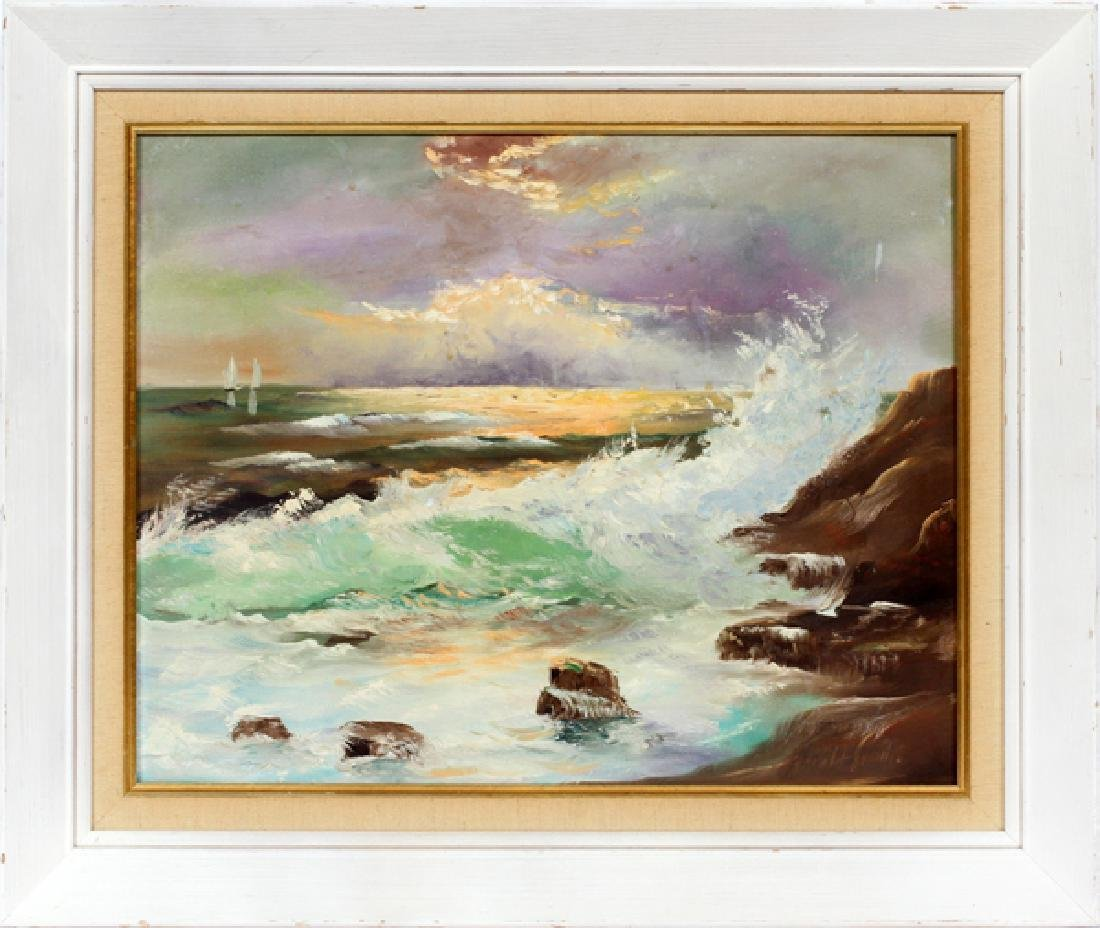 HAROLD SMITH OIL PAINTING 1963