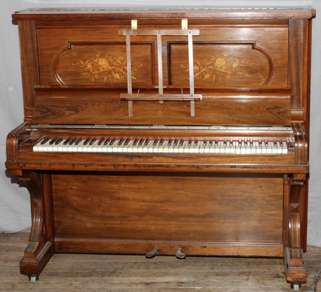 STEINWAY & SONS UPRIGHT PIANO 1894