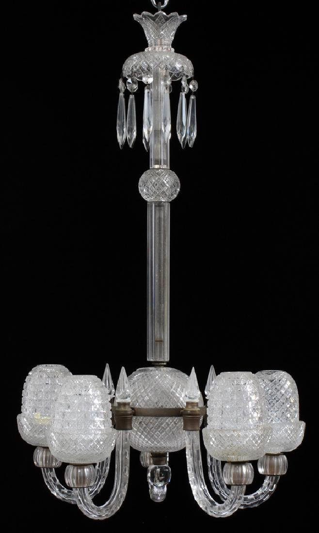 CLARKE'S GLASS FAIRY LAMP CHANDELIER LATE 19TH C.