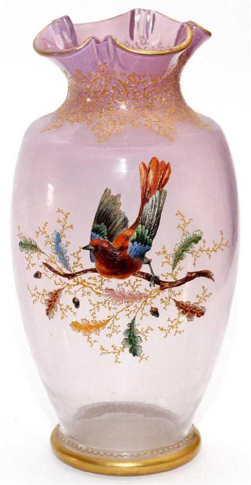 Moser Enameled Vase
