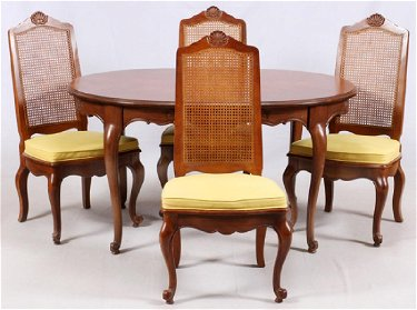 Drexel Country French Style Dining Table Chairs