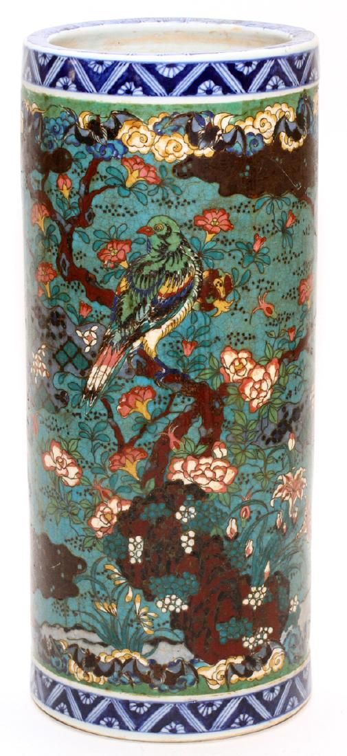 CHINESE CLOISONNE ON PORCELAIN VASE 19TH.C.