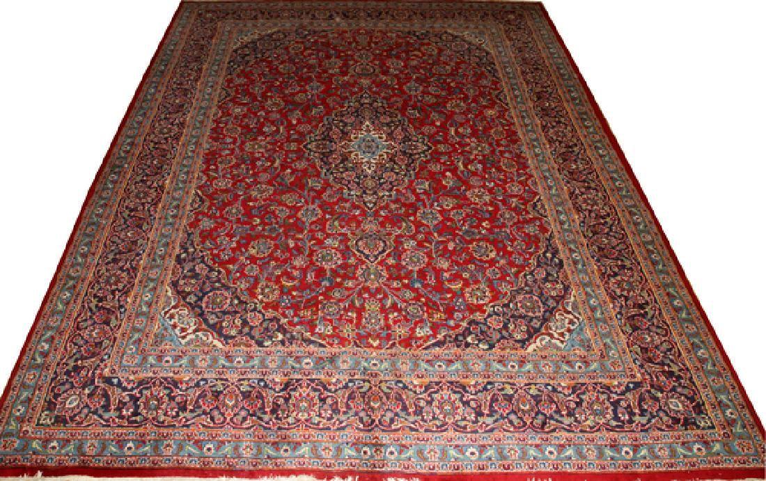 PERSIAN KASHAN CARPET C. 2000