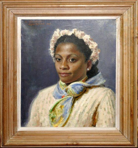 010007: EUGENE SPIECHER OIL ON CANVAS, WOMAN