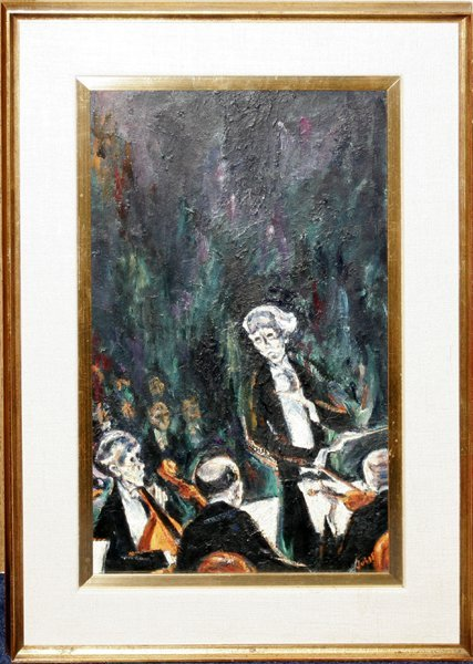 """010012: MERVIN JULES OIL ON BOARD, """"THE CONDUCTOR"""""""
