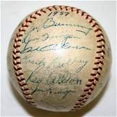 010179 1957 DETROIT TIGER TEAM SIGNED BASEBALL