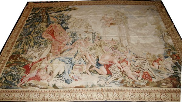 "011021: TAPESTRY W/ MYTHOLOGICAL FIGURES, 10'6""x8'"