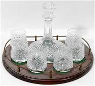 011359 WATERFORD CRYSTAL SHIPS DECANTER  LOWBALLS