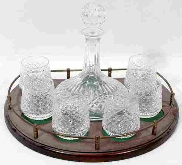 011359: WATERFORD CRYSTAL SHIP'S DECANTER & LOWBALLS