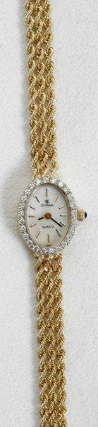012354: CYMA 14K GOLD LADY'S WRIST WATCH