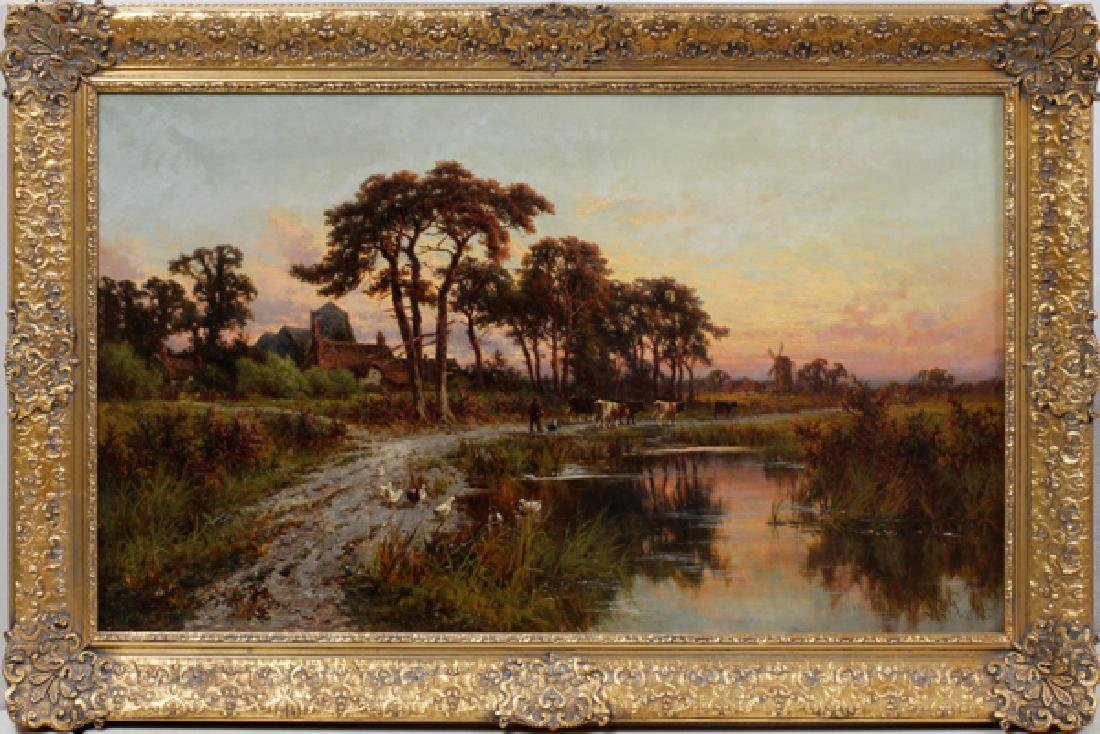 HENRY H. PARKER OIL ON CANVAS 1895