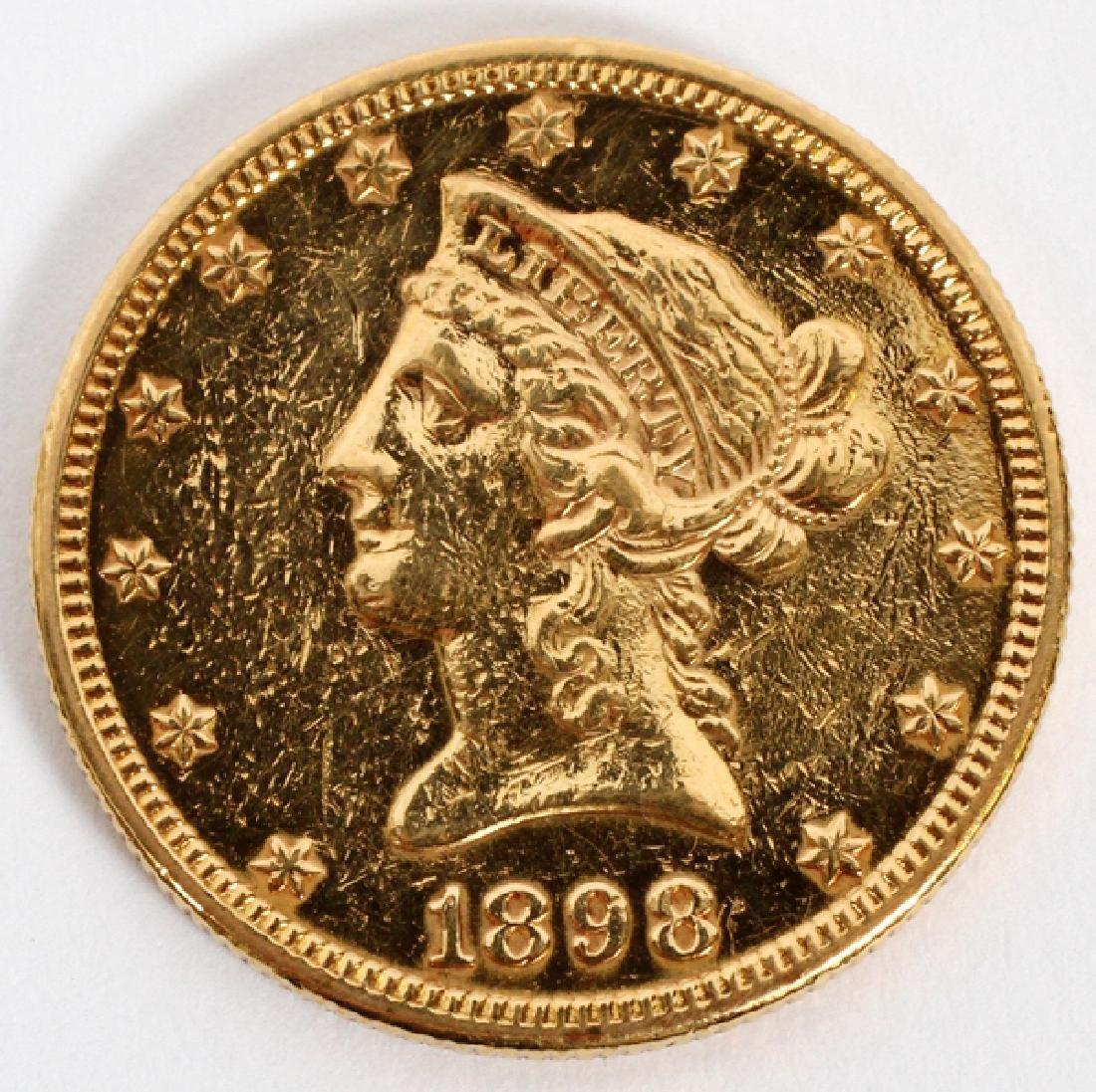 U.S. 1898-S $10.DOLLAR LIBERTY HEAD & EAGLE COIN