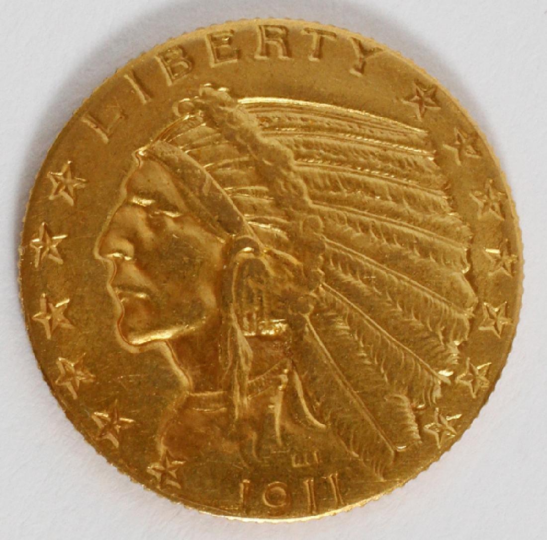U.S. $5.DOLLAR INDIAN CHIEF 'WALKING-EAGLE' COIN