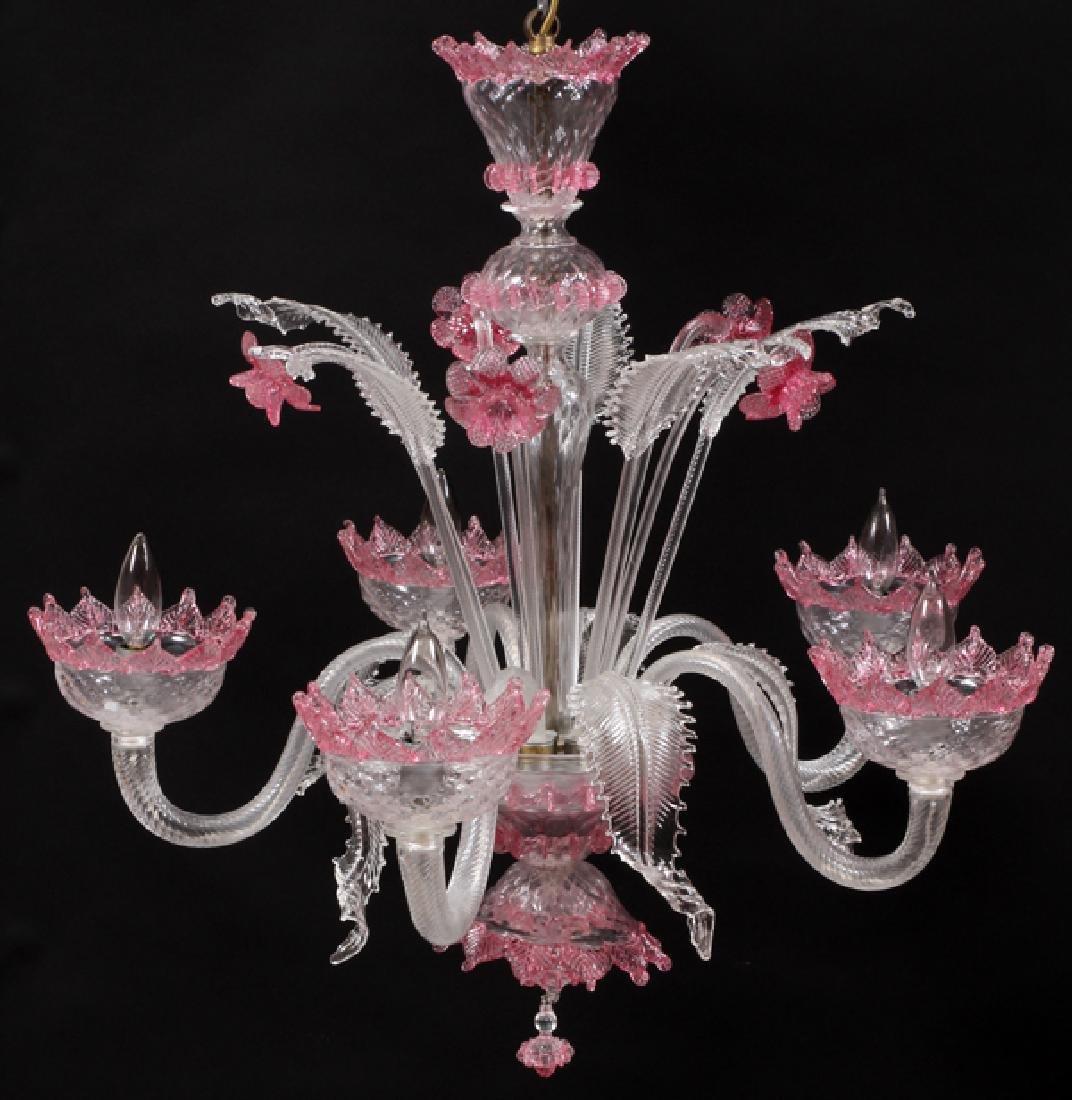 VENETIAN FIVE-LIGHT GLASS CHANDELIER - 2