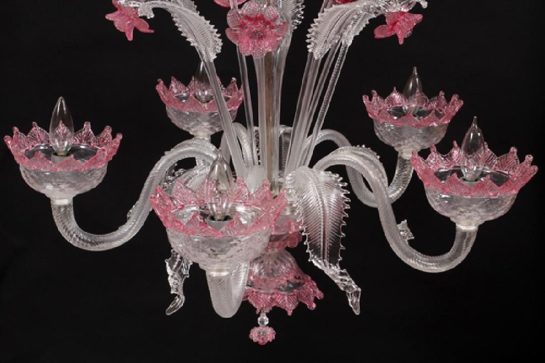 VENETIAN FIVE-LIGHT GLASS CHANDELIER - 3