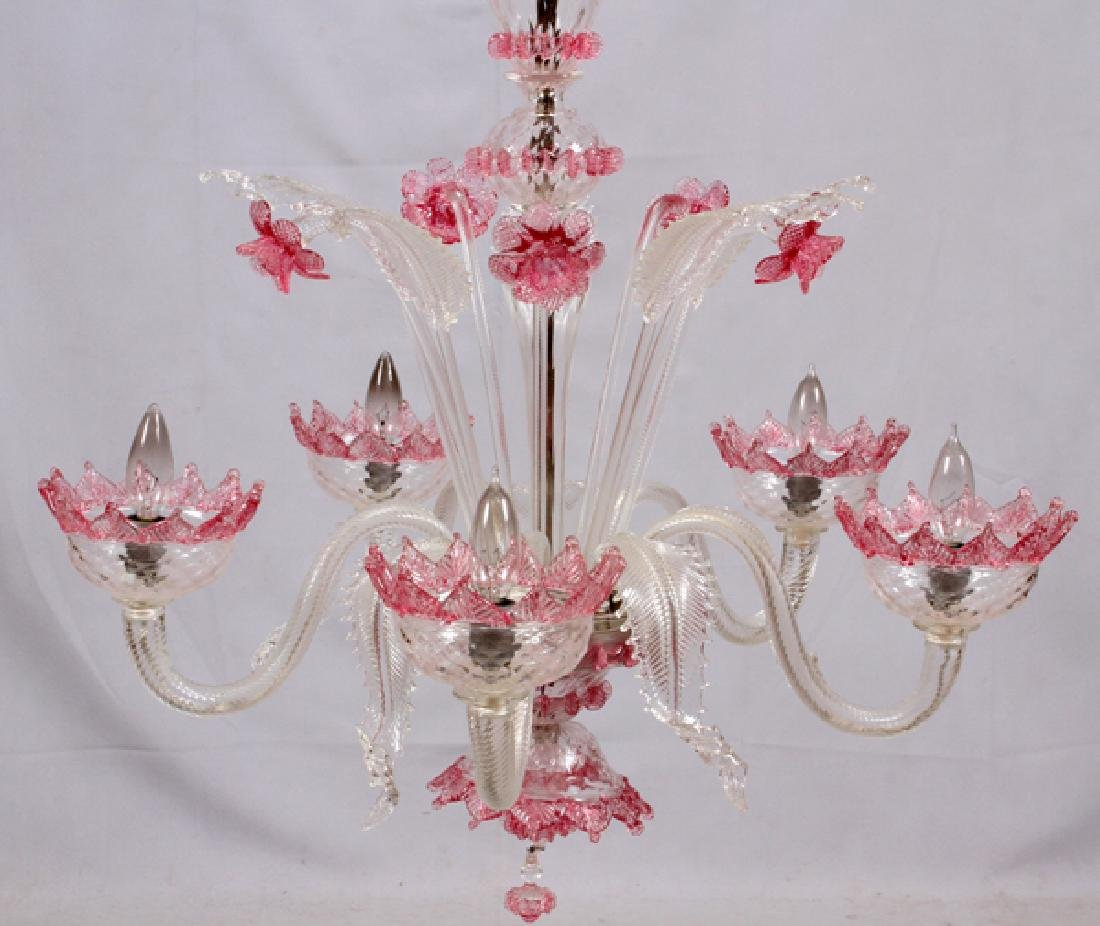 VENETIAN FIVE-LIGHT GLASS CHANDELIER - 6