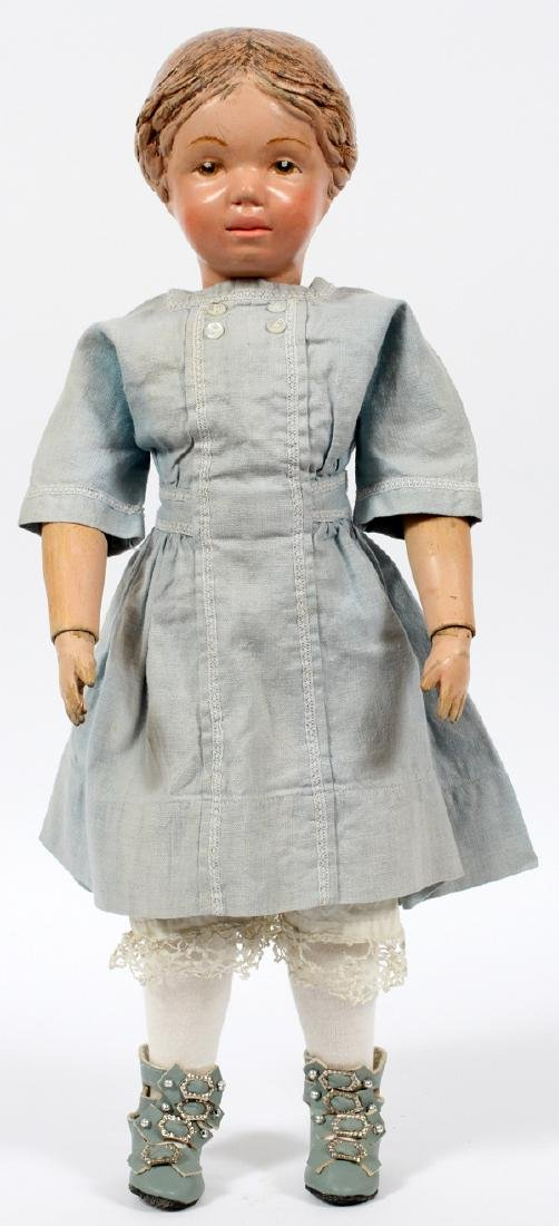 SCHOENHUT CARVED WOOD DOLL C.1912-1930