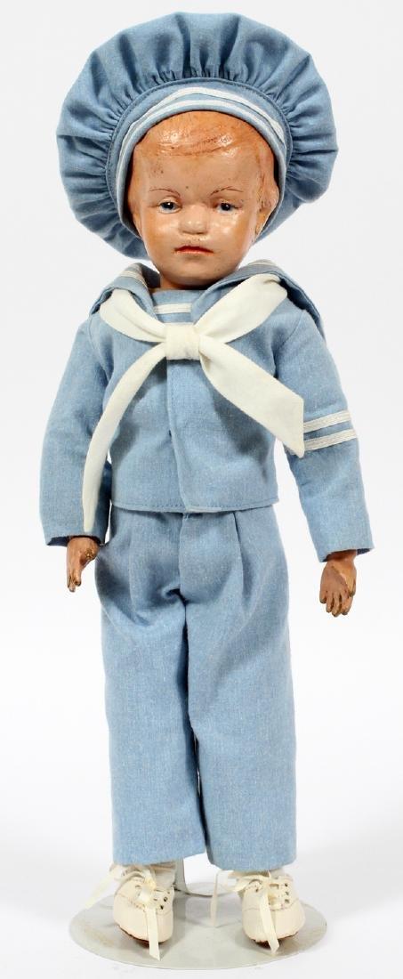 SCHOENHUT CARVED WOOD BOY DOLL C.1930
