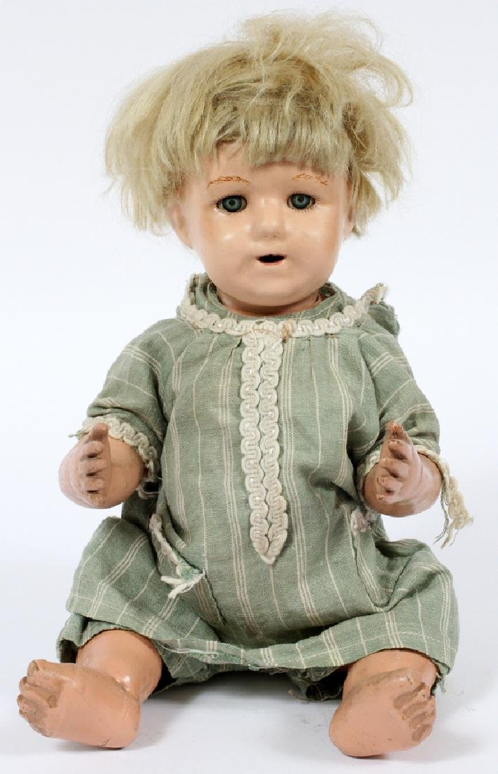 SCHOENHUT CARVED WOOD BABY DOLL C.1921-1923
