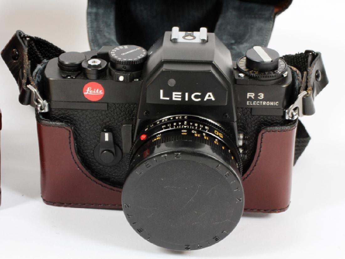 LEICA 'R3' ELECTRONIC CAMERA W/ LENS & DISPLAY CASE - 2