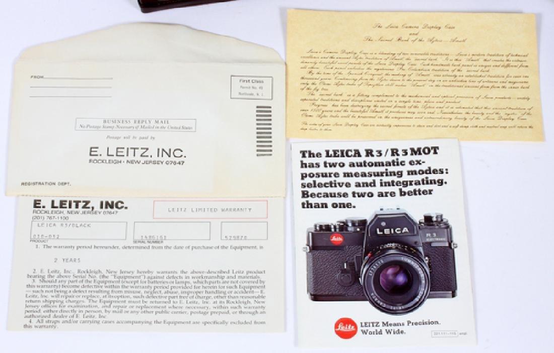 LEICA 'R3' ELECTRONIC CAMERA W/ LENS & DISPLAY CASE - 3