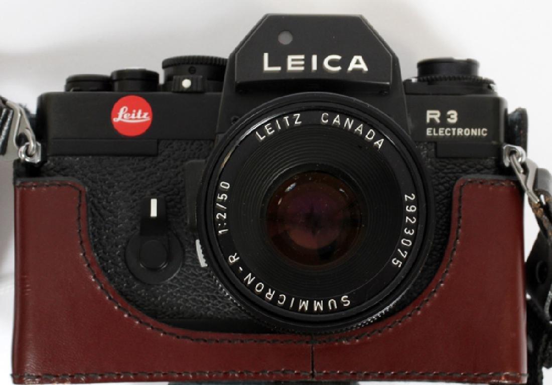 LEICA 'R3' ELECTRONIC CAMERA W/ LENS & DISPLAY CASE - 4