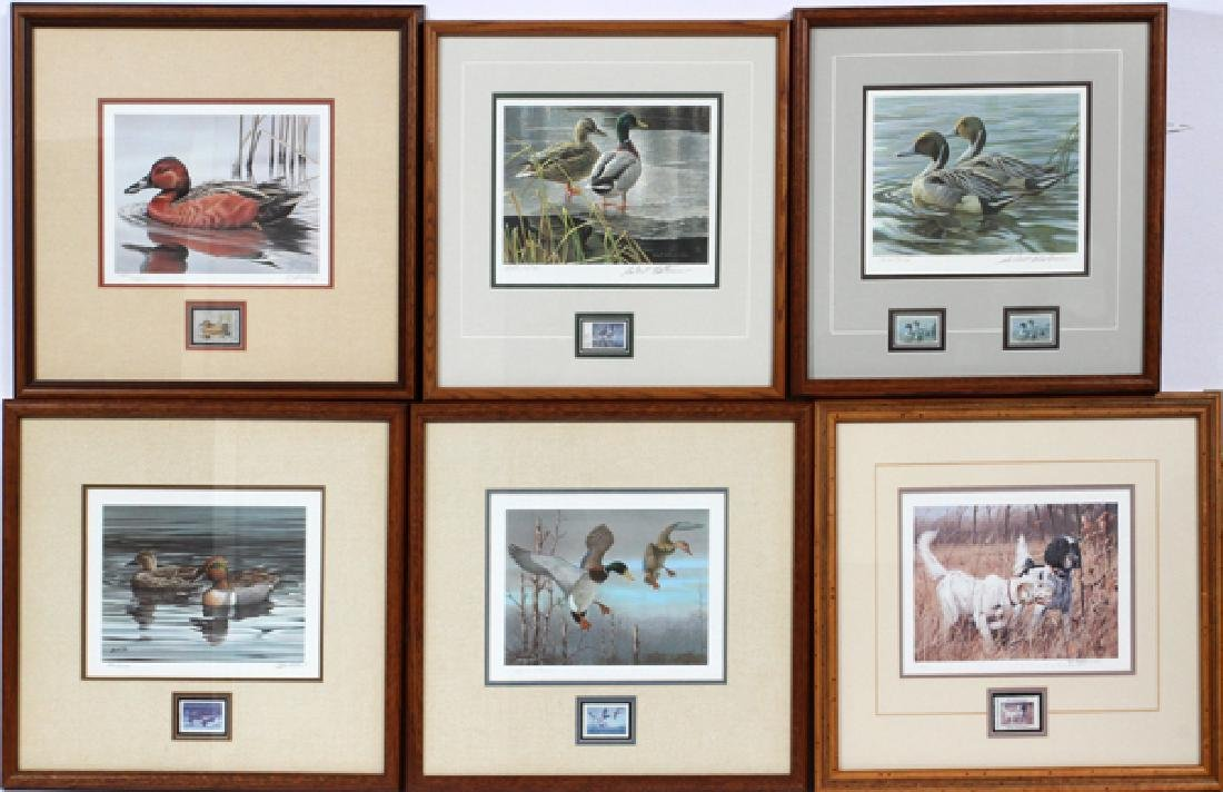 DUCK PRINTS AND STAMPS FIVE