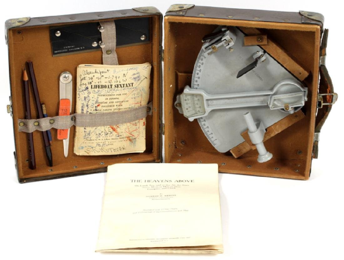 U.S. MARITIME COMMISSION LIFEBOAT SEXTANT