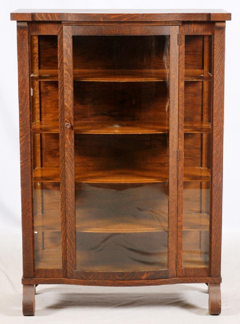 ARTS AND CRAFTS OAK BOOK CASE/CHINA CABINET