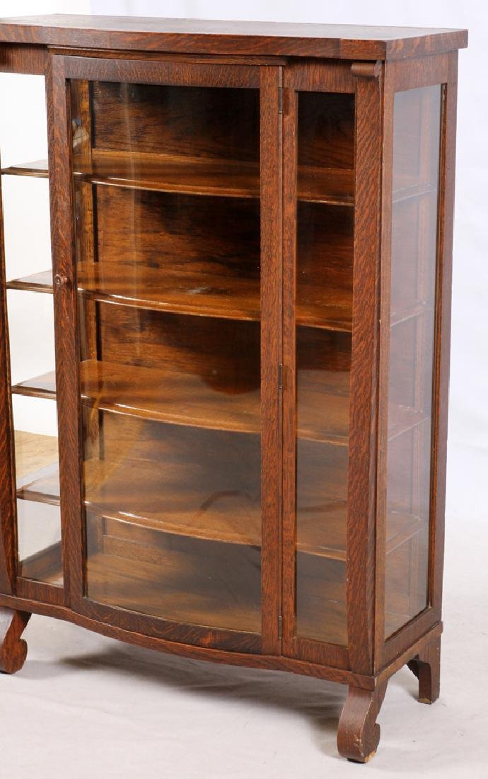 ARTS AND CRAFTS OAK BOOK CASE/CHINA CABINET - 2