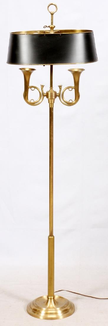 GILT BRASS FLOOR LAMP LATE 20TH C