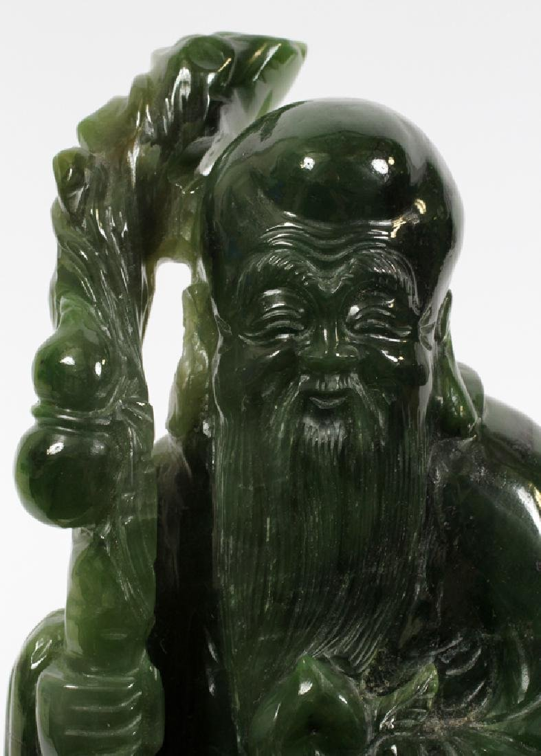 CHINESE JADE MALE FIGURE - 3