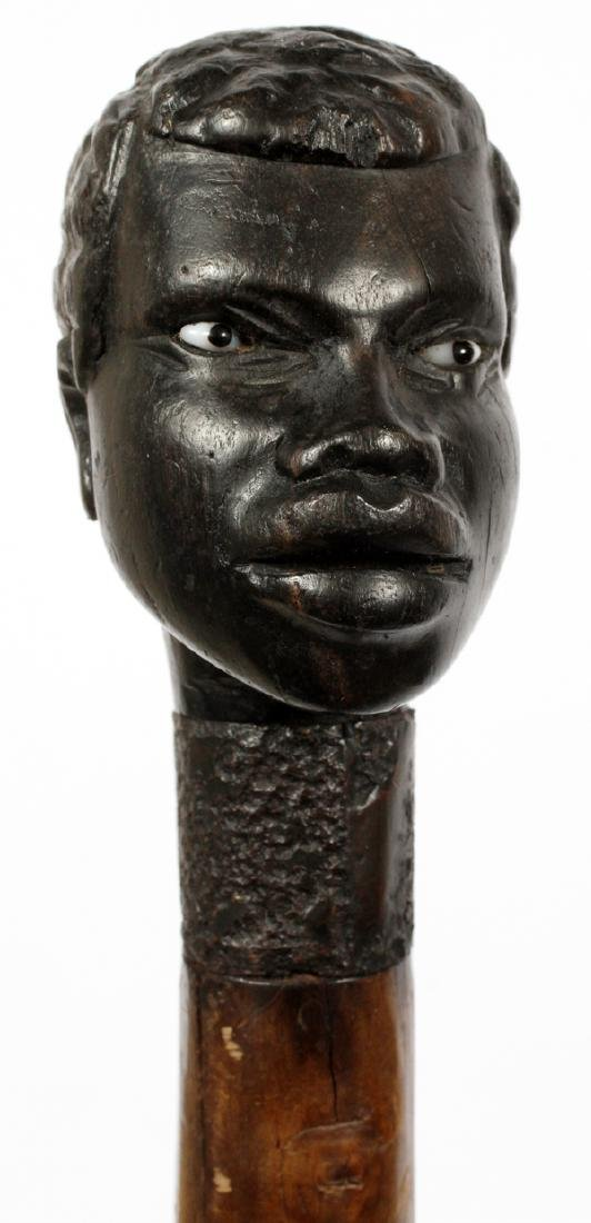 AFRICAN CARVED WOOD WALKING STICK