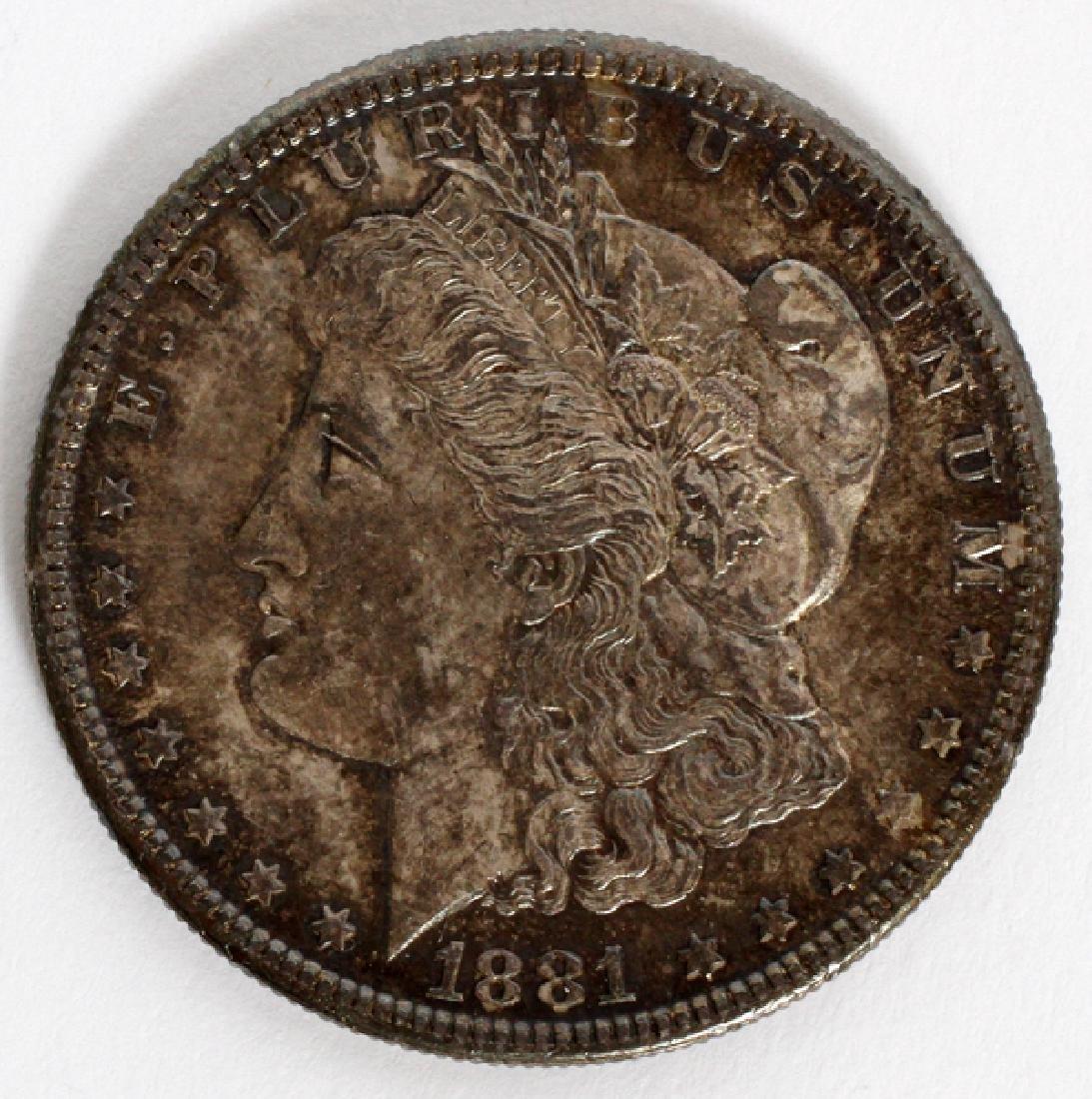 U.S $1 LIBERTY-HEAD MORGAN COIN 86 TR. OZ. 1881-S