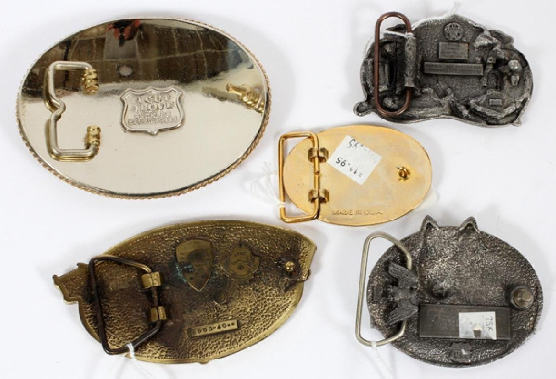 SILVER AND BRASS BELT BUCKLES FIVE - 2