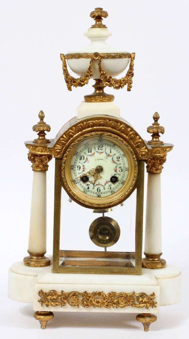 L. MARTI FRENCH EMPIRE MANTEL CLOCK 19TH.C.